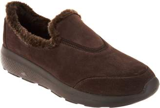 Skechers GOwalk Suede Faux Fur Shoes - Captivating