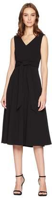 Calvin Klein Tie Waist A-Line Dress CD8C11MR Women's Dress