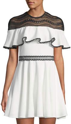 Style Stalker Stylestalker Dahlia Lace-Trim Circle Dress