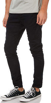 Zanerobe New Men's Salerno Mens Chino Pant Cotton Elastane Black