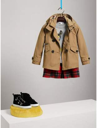 Burberry Detachable Hood Shape-memory Taffeta Trench Coat