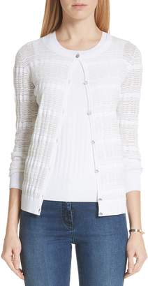 St. John Monica Sheer Knit Cardigan