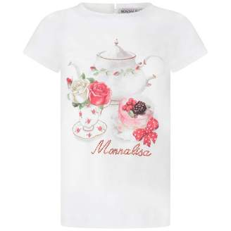 MonnaLisa MonnalisaIvory Floral Tea Party Top