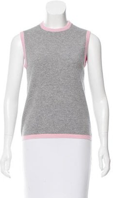 Thom Browne Sleeveless Cashmere Top $195 thestylecure.com