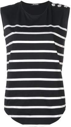 Balmain striped vest top