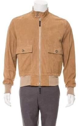 Ami Alexandre Mattiussi Goat Leather Bomber Jacket