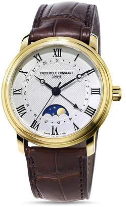 Frederique Constant Classics Watch with Leather Strap, 40mm $1,895 thestylecure.com