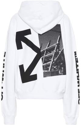 Off-White Off White Splitted Arrow cotton-jersey hoodie