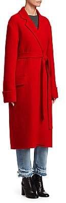 Helmut Lang Women's Belted Wool Blanket Coat
