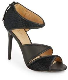 Waren Calf Hair & Leather Sandals $295 thestylecure.com