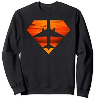 Super Aviator Pilot Orange Skies Airplane Sweatshirt