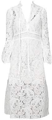 Maje Women's Rilie Lace Paisley Midi Dress