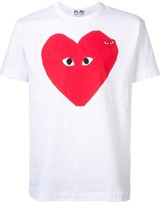 Comme Des Garçons Play heart print T-shirt $128.48 thestylecure.com
