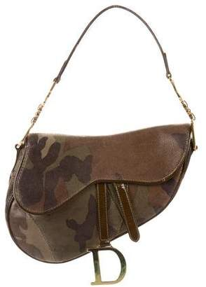 Christian Dior Camo Saddle Bag