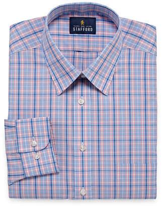 STAFFORD Stafford Travel Performance Super Long Sleeve Broadcloth Pattern Dress Shirt