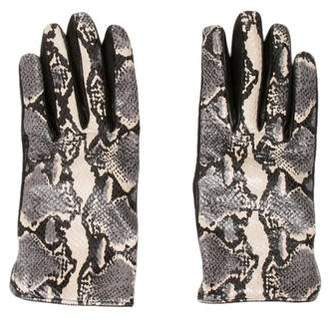 Emporio Armani Embossed Leather Gloves