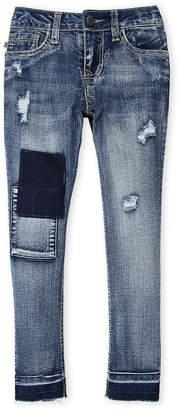 Vigoss Girls 7-16) Super Blast Distressed Ankle Skinny Jeans