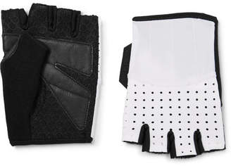 Cafe du Cycliste Leather And Mesh-Panelled Jersey Cycling Gloves