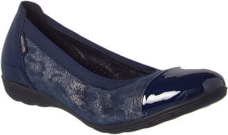 Mephisto Elettra Suede & Patent Leather Flat