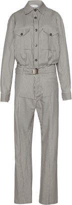 Tre by Natalie Ratabesi Frankie Striped Cotton-Twill Jumpsuit