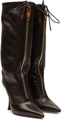 Versace Leather Knee Boots