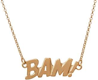 Edge Only - BAM Letters Necklace Large in Gold