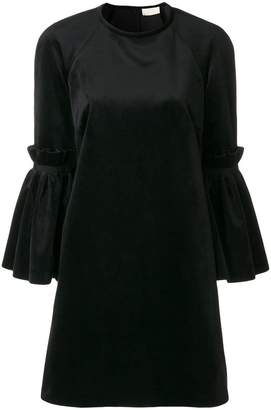 Sara Battaglia flared sleeves dress