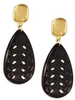 Nest Horn Teardrop Earrings