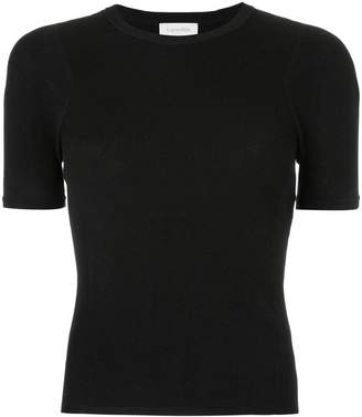 CK Calvin Klein twist knit short sleeve top
