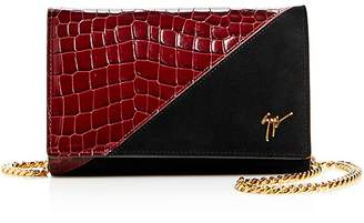Giuseppe Zanotti Nicholson Croc-Embossed Leather & Velvet Convertible Crossbody
