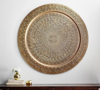 Pottery Barn Decorative Metal Disc