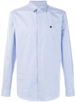 Givenchy striped star patch shirt