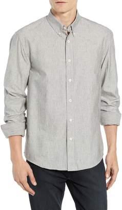 Billy Reid Taylor Slubbed Pinstripe Sport Shirt