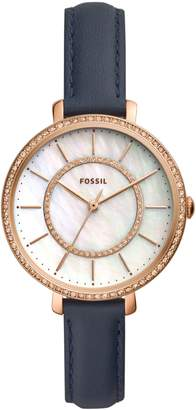Fossil Jocelyn Leather Strap Watch, 36mm