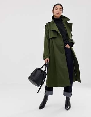 Asos Design DESIGN longline trench coat