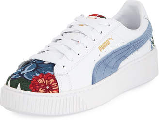Puma Hyper Embroidered Platform Sneakers
