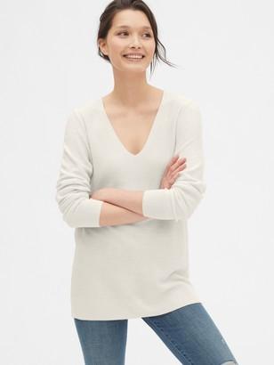 Gap True Soft Textured V-Neck Sweater