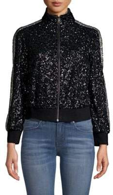 Zadig & Voltaire Sequin Zip-Up Jacket