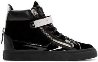 Giuseppe Zanotti Black Velvet London High-Top Sneakers $825 thestylecure.com