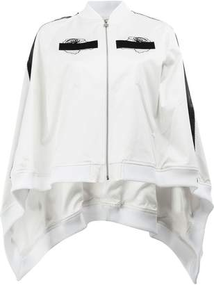 Anrealage embroidered detail cape-style bomber jacket