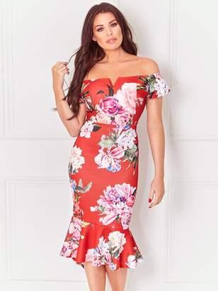 Jessica Wright Juliane Bardot Dress - Floral