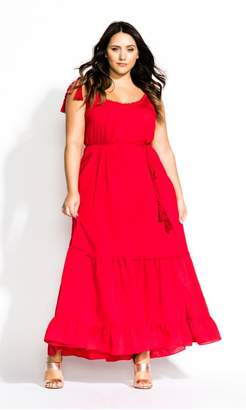 City Chic Citychic Endless Summer Maxi Dress - red