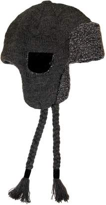 Muk Luks Fairisle Knit Button Top Trapper Hat for Men