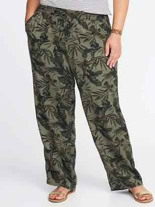 Old Navy Mid-Rise Plus-Size Wide-Leg Soft Pants