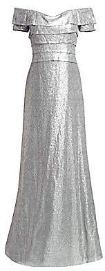 Aquatalia Women's Off-The-Shoulder Sequin Gown