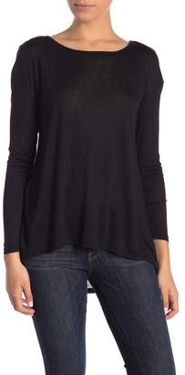 14th & Union Boatneck Hi-Lo Long Sleeve Tee (Petite)