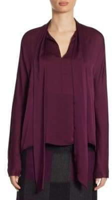 Akris Punto Silk Dolman Sleeve Blouse