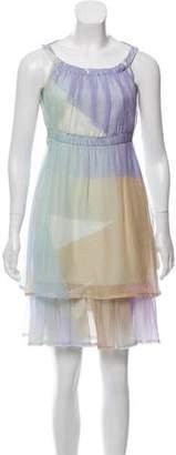 Fendi Silk Printed Dress w/ Tags