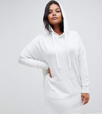 Micha Lounge Curve knitted dress with hood