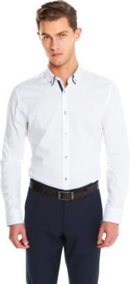 yd. WHITE ALVARO SLIM FIT DRESS SHIRT